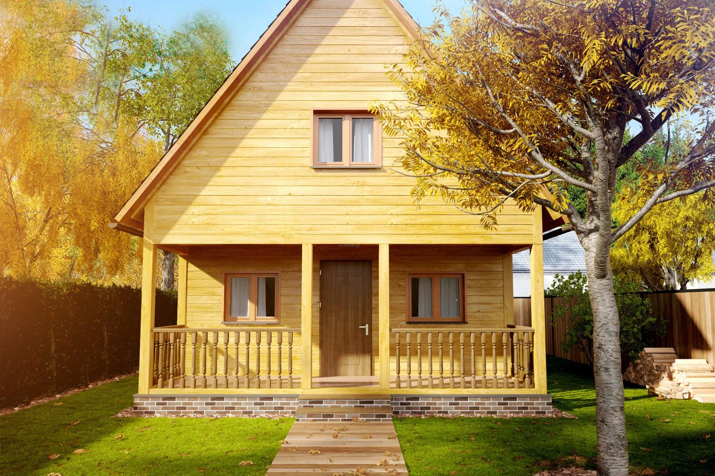 дачный дом из бруса проекты фото простое